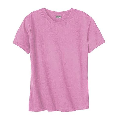 Hanes Women's Classic-Fit Jersey T-Shirt 4.5 oz (Set of 4) Pink