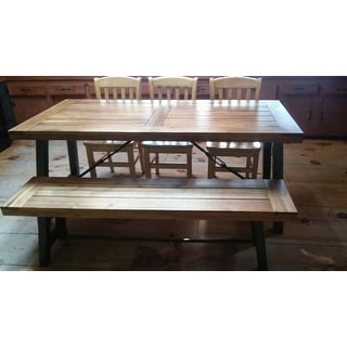 Outdoor Puerto Acacia Wood 3-piece Picnic Dining Set by Christopher Knight Home