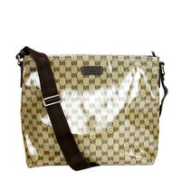 0bb5131e96da Gucci Unisex Brown Crystal Canvas GG Messenger Bag 339569 9790 - One size