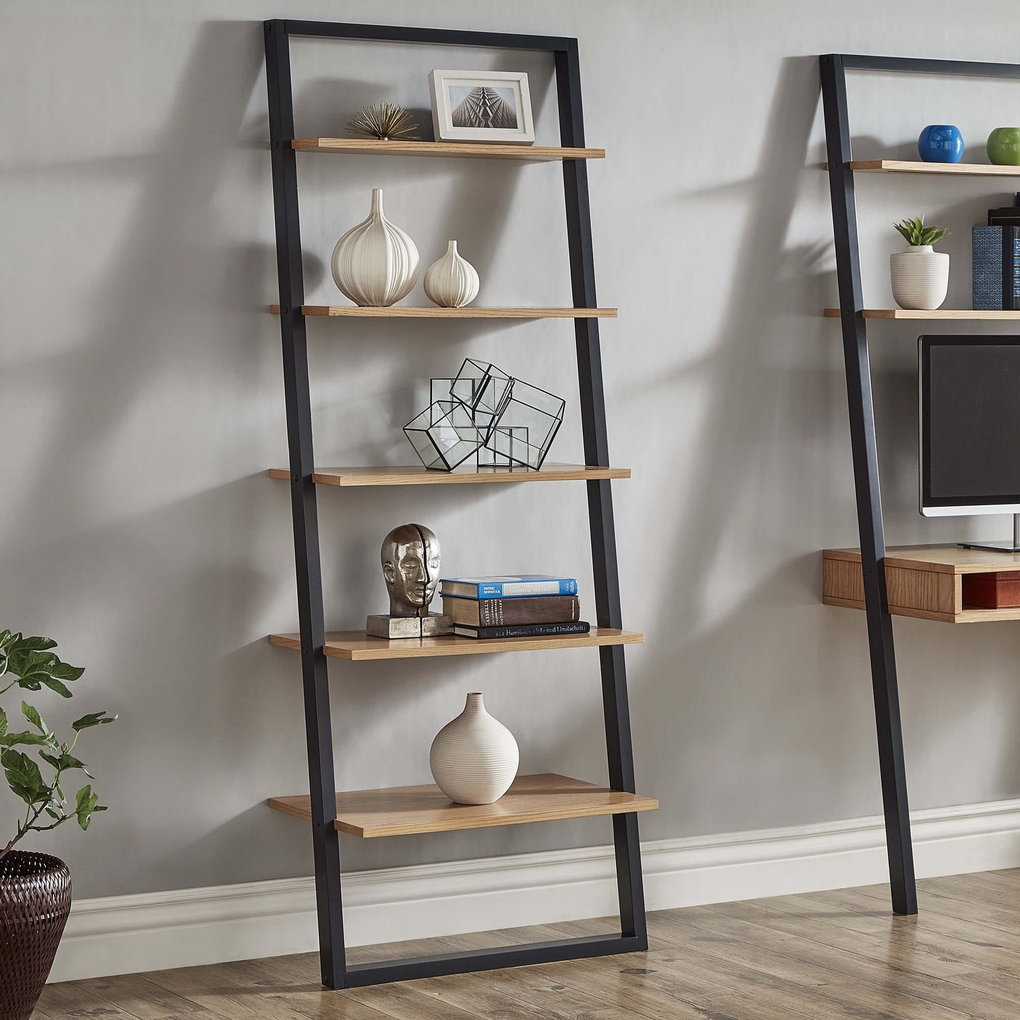 Ranell Leaning Ladder Shelves By Inspire Q Modern On Sale Overstock 16489724