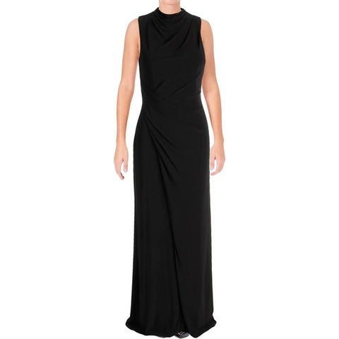 Vera Wang Womens Evening Dress Matte Jersey Slit