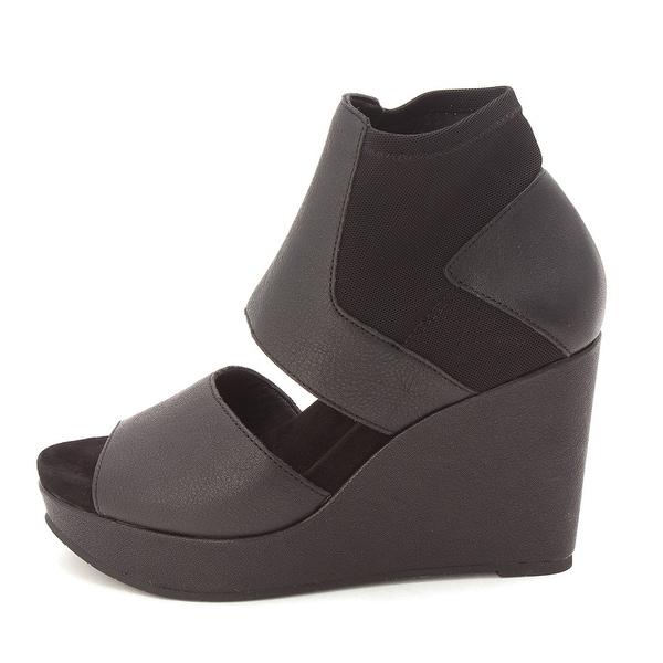 Eileen Fisher Womens Still Leather Open Toe Casual Platform Sandals - 5.5