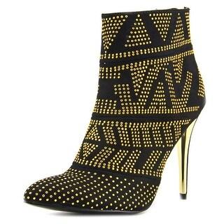 Thalia Sodi Alejandra Women  Pointed Toe Canvas Black Ankle Boot