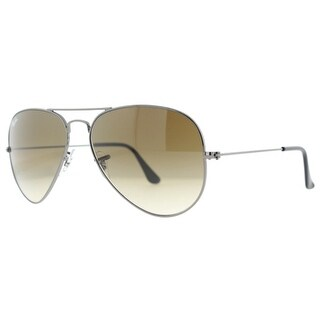 Ray Ban RB3025 004/51 58mm Gunmetal/Light Brown Gradient Aviator Sunglasses - Gunmetal - 58mm-14mm-135mm