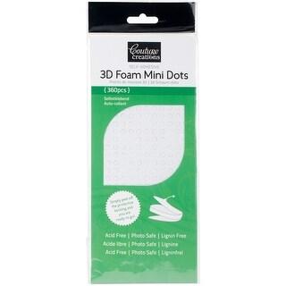 White - Couture Creations 3D Foam Mini Dots 360/Pkg