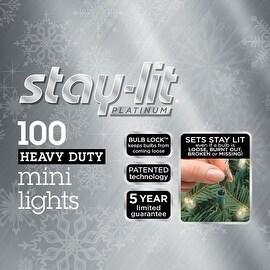 Celebrations 44800-71 Staylit Clear Commercial Mini Light Set, 34.25 ft. L