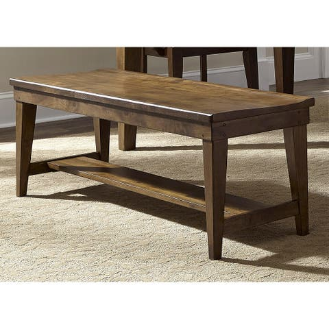 The Gray Barn Wisteria Traditional Rustic Oak Dining Bench