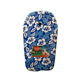 Daily Basic Beach and Pool Durable Blue Pattern Foam And Nylon Bodyboard with Leash - Assorted Styles