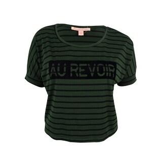 Rebellious One Juniors' Striped Velvet Print Top