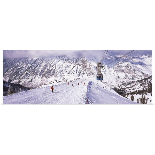 dbb2c9db9a80a Shop Poster Print entitled Overhead cable car in a ski resort ...