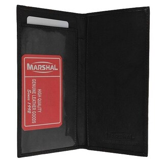 Genuine Leather Simple Check Book Holder style - Black