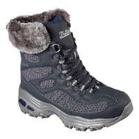 Skechers Women's D'Lites Snow Plaza Mid Calf Boot Navy