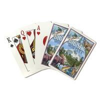 Big Sky, Montana - Montage Scenes - LP Artwork (Poker Playing Cards Deck)