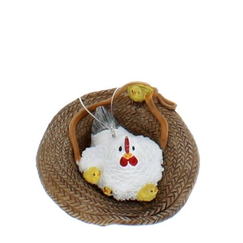 Mother Hen in Farm Hat