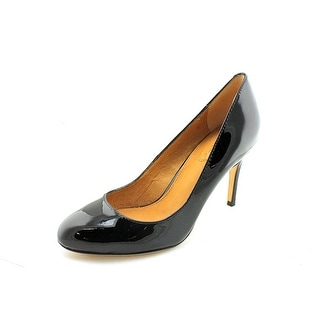 Corso Como Webster Women Round Toe Patent Leather Black Heels