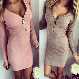Tight Package Hip Warm Dress