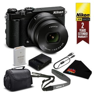 Nikon 1 J5 Mirrorless Digital Camera with 10-30mm Lens 27707 (Intl Model) - Bundle