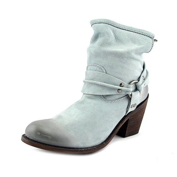 Independent Boot Company Whitney Women  Round Toe Leather Blue Ankle Boot