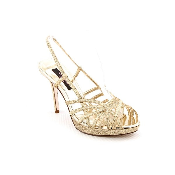 Nina Fonda Women Open Toe Synthetic Gold Sandals