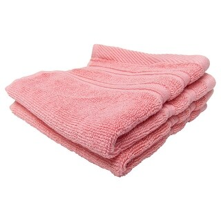 Feather and Stitch 2-Ply Wash Cloth, 13x13 Inches, Pink