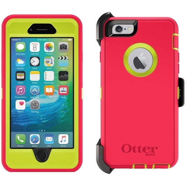 OtterBox Defender Case for iPhone 6 & 6s Plus w/ Holster - Blaze Pink - blaze pink