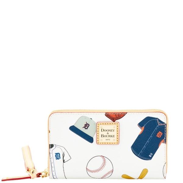 Dooney & Bourke MLB Tigers Zip Around Phone Wristlet (Introduced by Dooney & Bourke at $118 in Mar 2016) - White