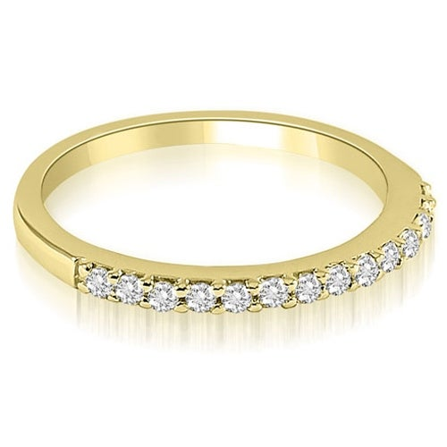 0.21 cttw. 14K Yellow Gold Classic Round Cut Diamond Wedding Band