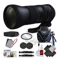Tamron SP 150-600mm f/5-6.3 Di VC USD G2 for Canon EF International Version (No Warranty) Pro Kit - black
