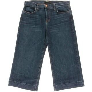J Brand Womens Liza Virtue Wash Crop Gaucho Jeans