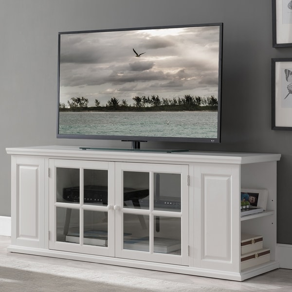 Cottage White 62-inch TV Stand - 62 inches. Opens flyout.