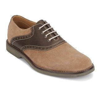 G.H. Bass & Co. Mens Parker Leather Saddle Oxford Shoe