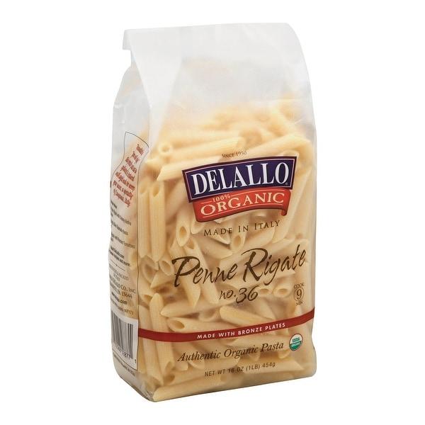 Delallo Organic Penne Rigate Pasta - Case of 16 - 1 lb.