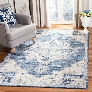 Link to Safavieh Brentwood Clara Traditional Oriental Medallion Rug Similar Items in Transitional Rugs