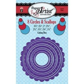"Paper Artist Cutting Die-Circles & Scallops, 3.875""X3.875"""