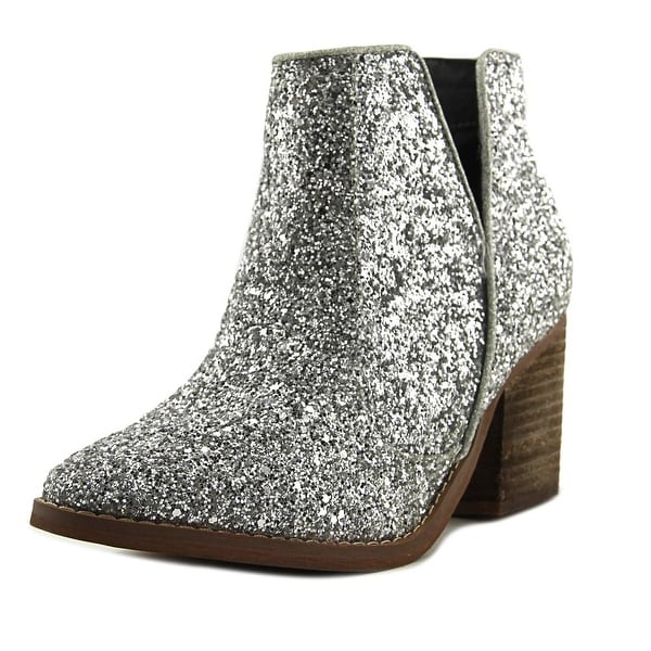 Not Rated Firefly Women Round Toe Synthetic Silver Ankle Boot