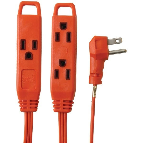 Axis 45516 3-Outlet Indoor Extension Cord, 8Ft (Orange)