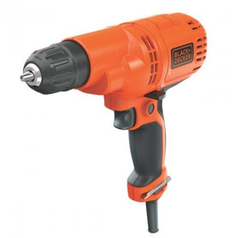 """Black & Decker DR260C Powerful Drill/Driver Kit with 6' Cord, 5.2 Amp, 3/8"""""""