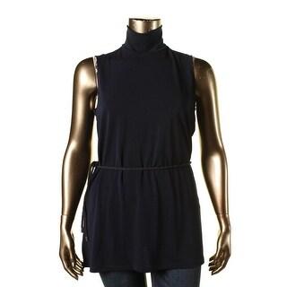 Lauren Ralph Lauren Womens Crepe 1/2-Back Zip Tunic Top - XL