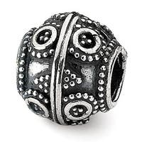 Sterling Silver Reflections Artisan Bead (4mm Diameter Hole)