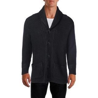 Ralph Lauren Mens Linen Wool Blend Long Sleeves Cardigan Sweater - L