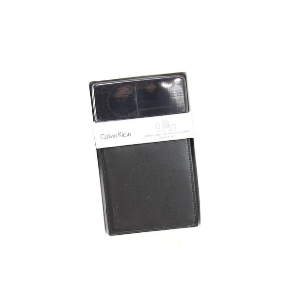 c11d84630e837 Shop Calvin Klein NEW Black Men s Bifold Leather Passcase Wallet Key Fob  Set - Free Shipping On Orders Over  45 - Overstock - 20576309