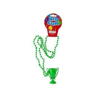 Green Trophy Party Necklace - Pack of 36