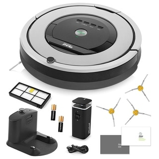 iRobot Roomba 860 Vacuum Cleaning Robot + Dual Mode Virtual Wall Barriers + 3 Extra Side Brushes + Extra High Efficiency Filter