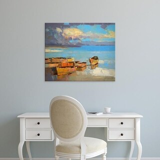 Easy Art Prints Vahe Yeremyan's 'Fishing Boats' Premium Canvas Art