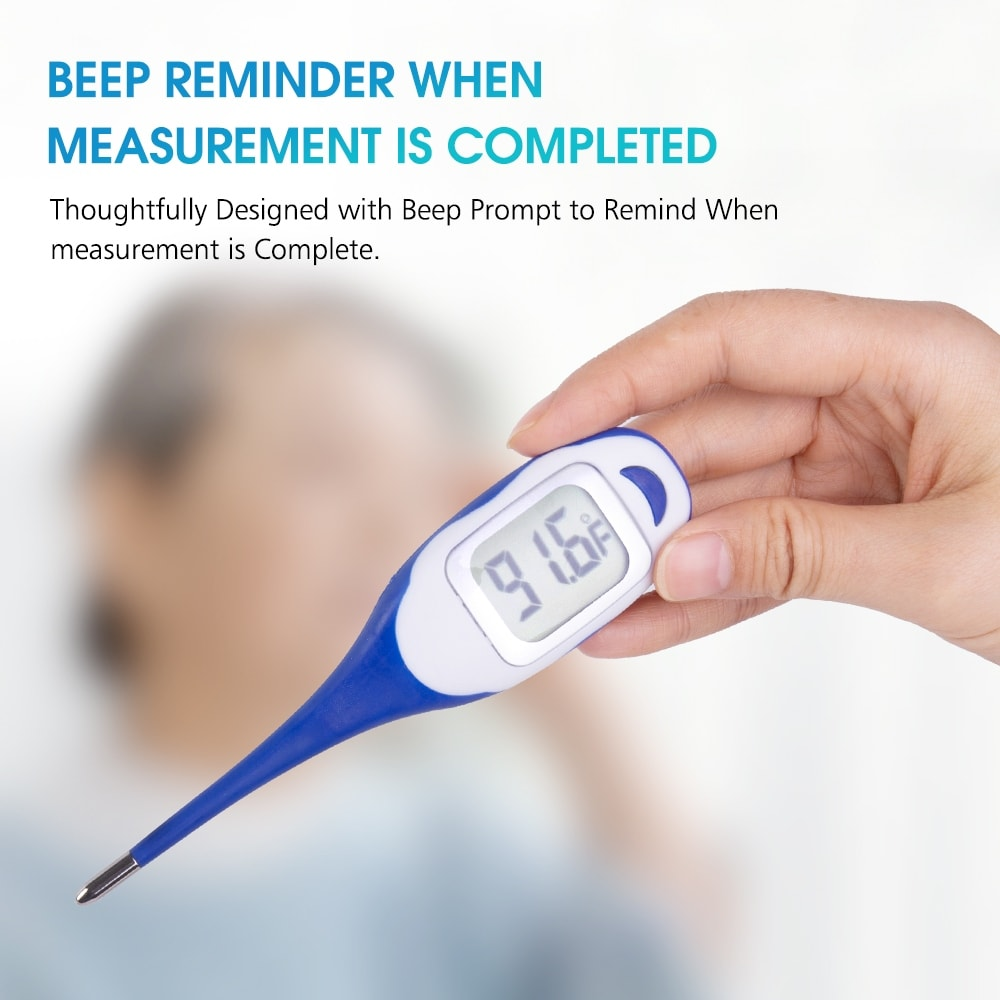 Digital Thermometer For Fever Oral Rectal And Underarm Use Overstock 31670983 Yellow