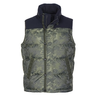 Tommy Hilfiger Sherwood Hooded Outdoor Vest X-Large Green Camouflage Down Fill