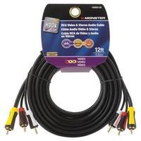 Monster Jhiu 140059-00 12 ft. Black Economy Composit Audio Video Cable
