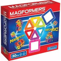 Magformers Rainbow 30 Piece Magnetic Construction Set - Multi