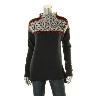 Free People Womens Pattern Turtleneck Turtleneck Sweater