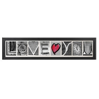 Creative Personalized Imagine Letter Art Frame with 4x6 inch clip frames, Wooden Frame - Black ( 3 to 9 Picture )